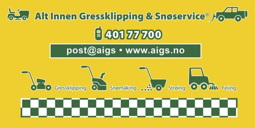 ALT INNEN GRESSKLIPPING & SNØSERVICE®
